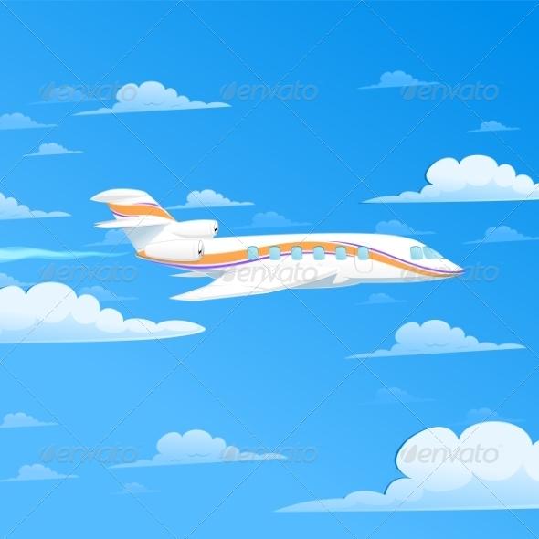 Flying Plane - Travel Conceptual