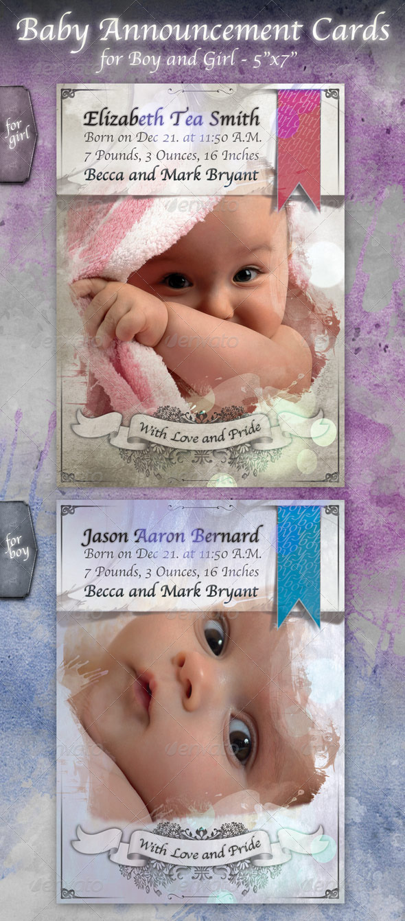 Baby Announcement Card - Family Cards & Invites