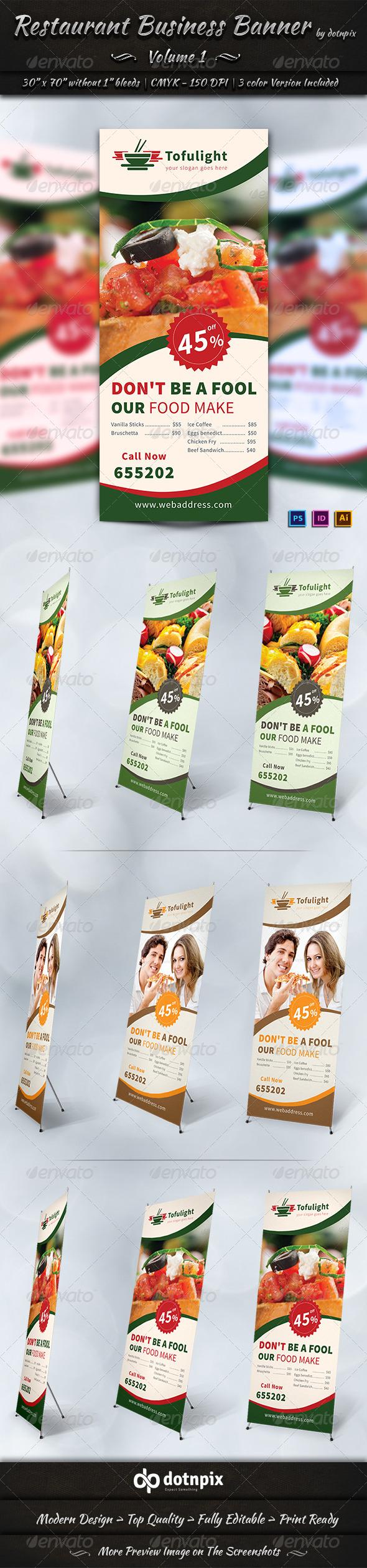 Restaurant Business Banner | Volume 1 - Signage Print Templates