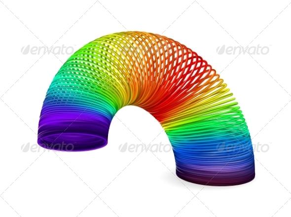 Rainbow spiral spring - Abstract Conceptual