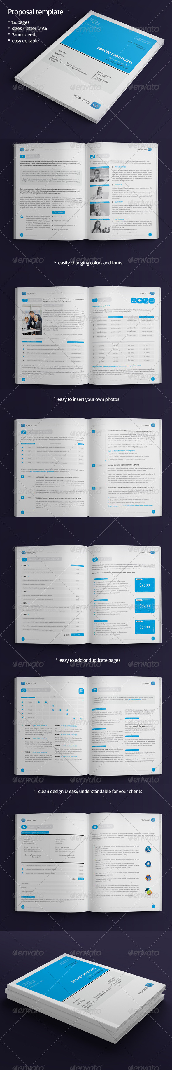 Proposal Template - Brochures Print Templates