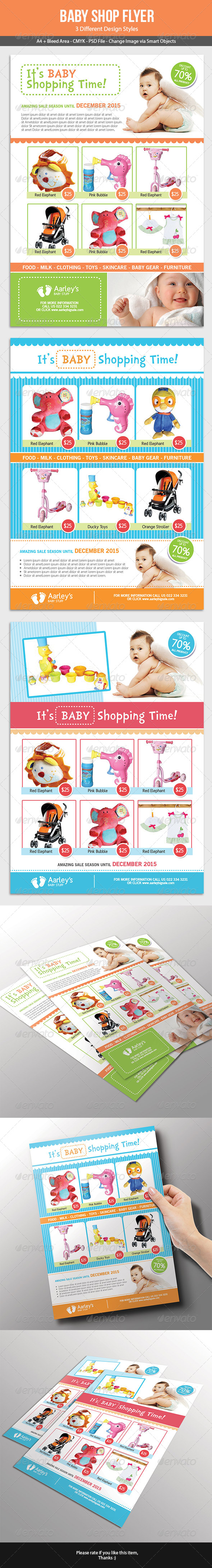 Baby Shop Flyer - Commerce Flyers