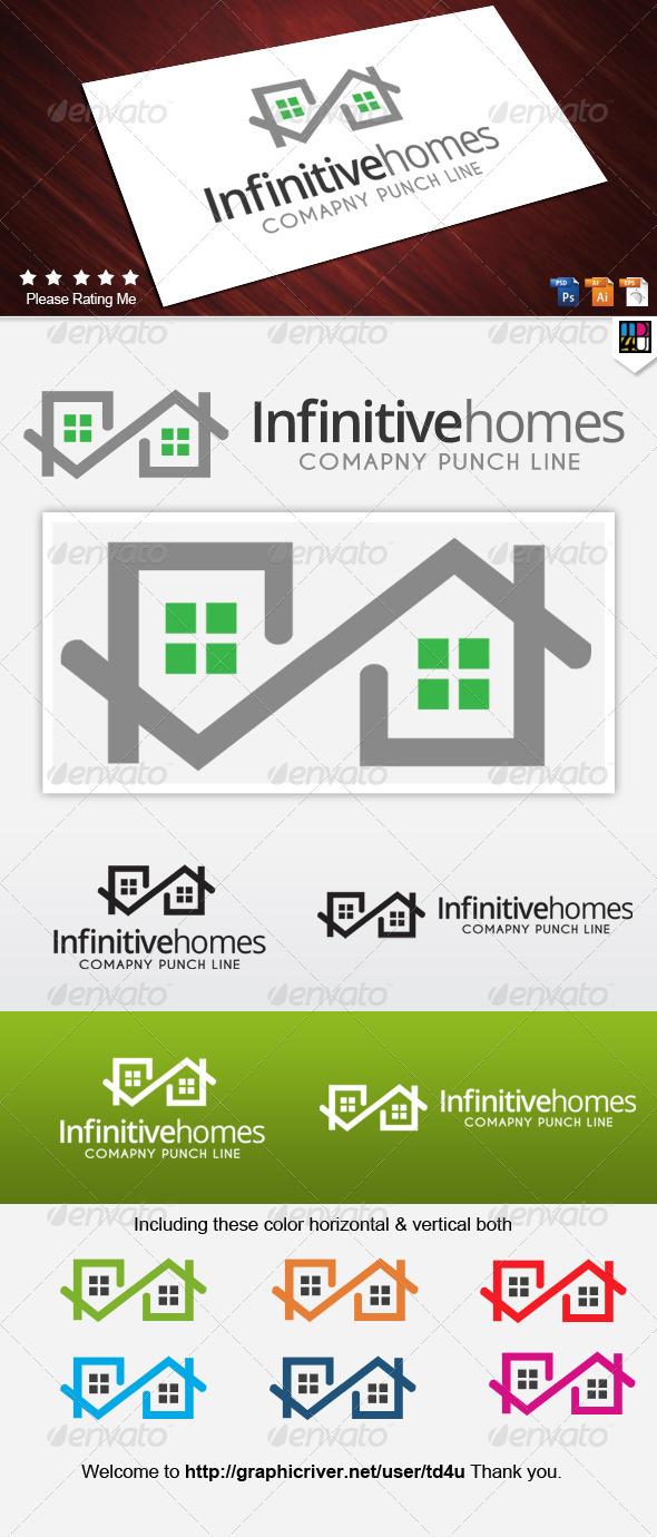 Infinitive Homes - Symbols Logo Templates