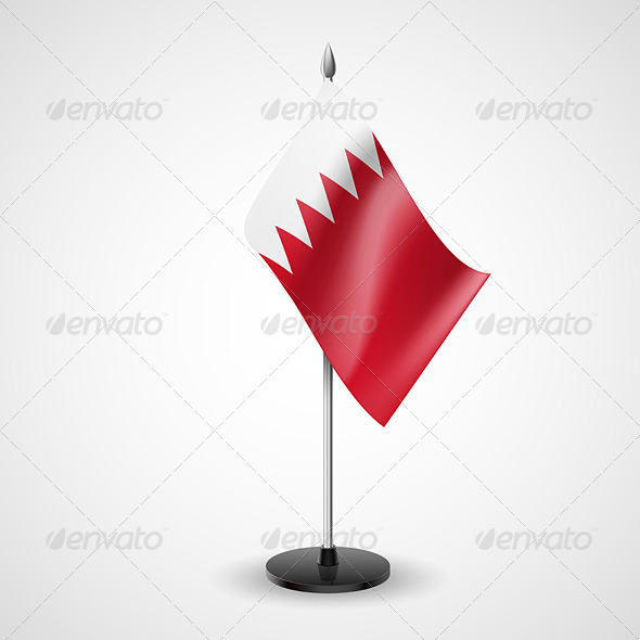 Table flag of Bahrain - Miscellaneous Vectors