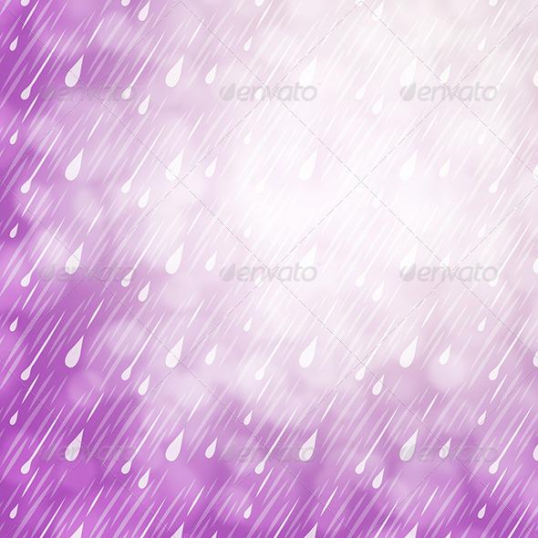 Purple Rain Background - Nature Backgrounds