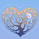 Tree in Shape of Heart - GraphicRiver Item for Sale