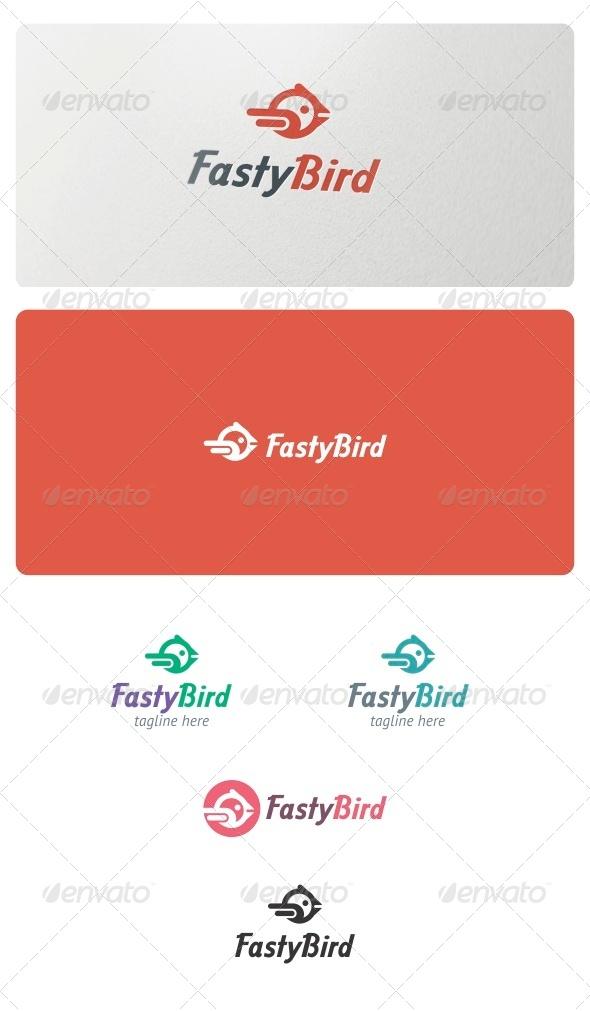 Fasty Bird Logo  - Animals Logo Templates