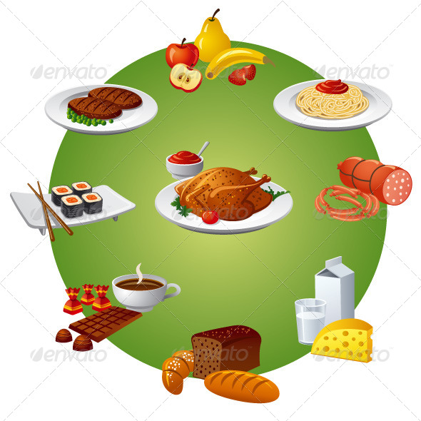 Food and Meal - Vectors