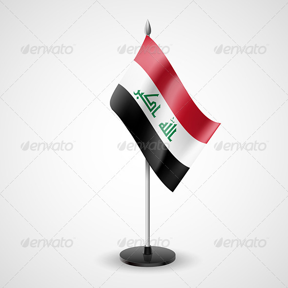 Table Flag of Iraq - Miscellaneous Vectors