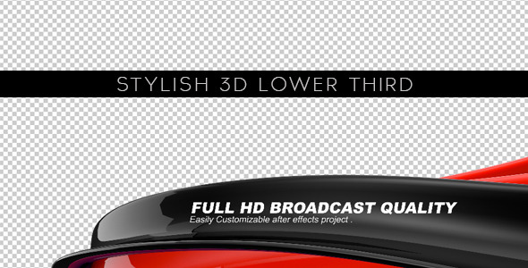 3D Lower Thirds Video Effects Stock Videos From VideoHive