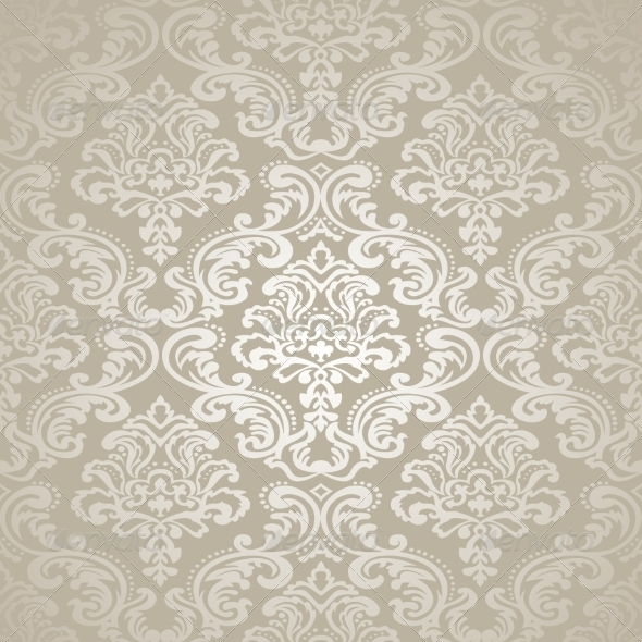 Seamless Pattern Background. Damask Wallpaper. - Backgrounds Decorative