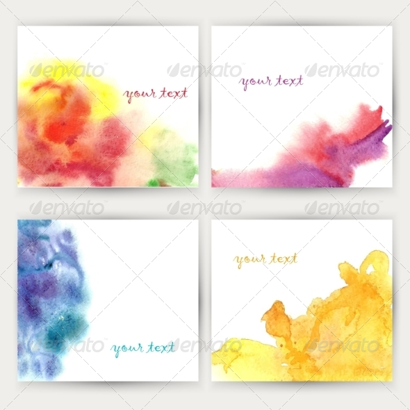 Set of Watercolor Backgrounds . - Backgrounds Decorative