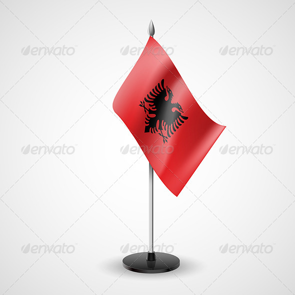 Table flag of Albania - Miscellaneous Vectors