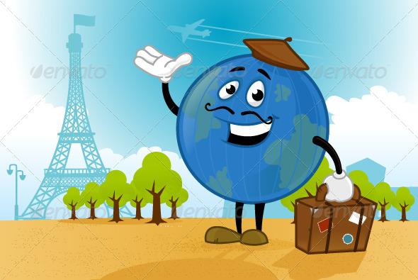 Trip to Paris - Travel Conceptual
