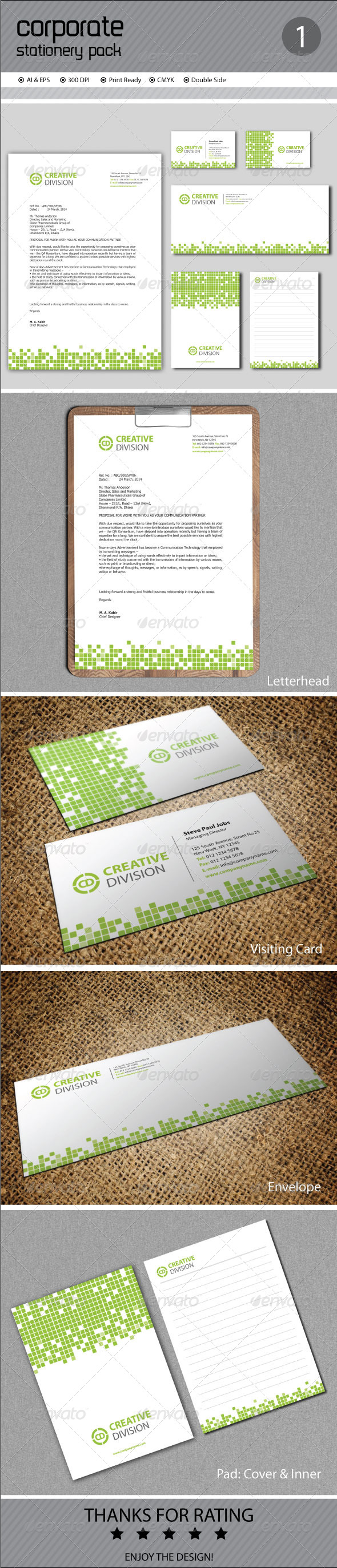 Corporate Stationery - Stationery Print Templates