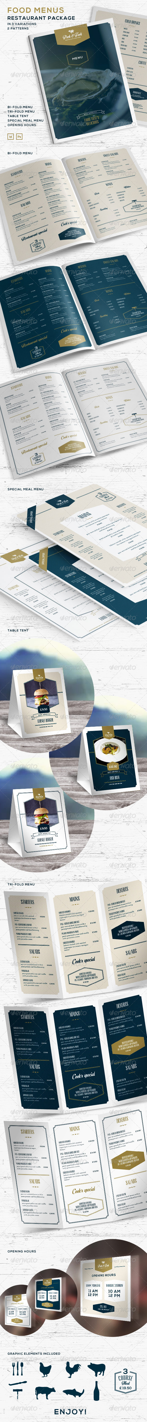 Food Menus - Restaurant Package - Food Menus Print Templates
