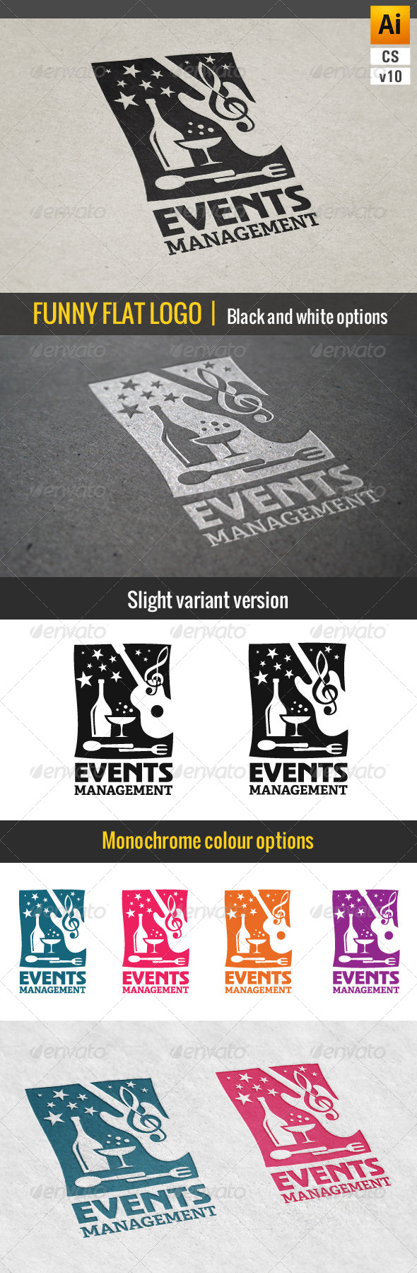 Events & Parties Management Logo - Objects Logo Templates