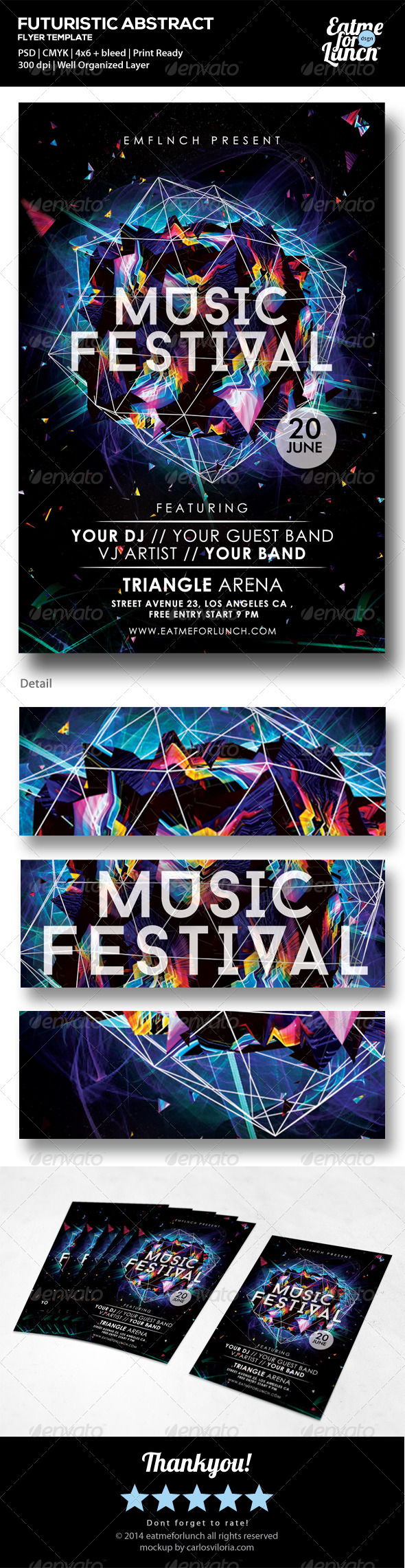 Futuristic Music/Gigs/Festival Flyer Templates  - Clubs & Parties Events