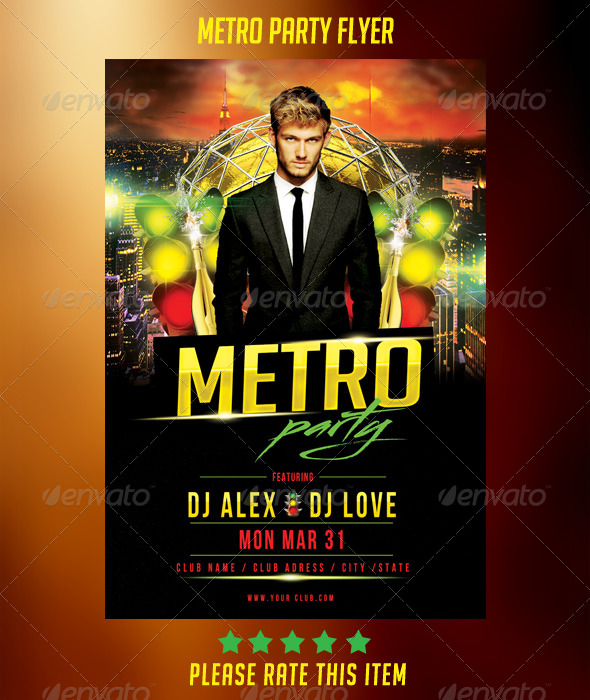Metro Party Flyer - Clubs & Parties Events