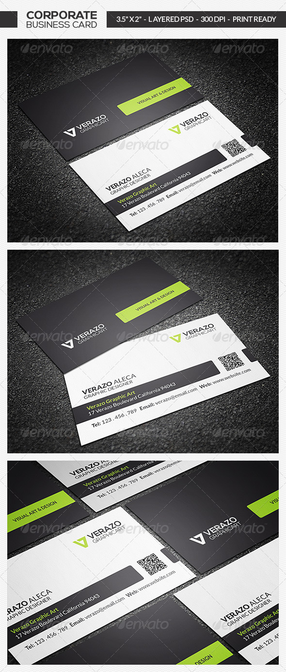Clean Business Card 12 - Corporate Business Cards