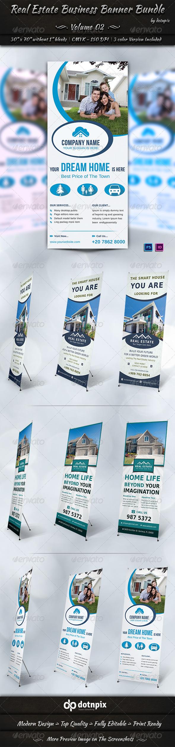 Real Estate Business Banner Bundle | Volume 2 - Signage Print Templates
