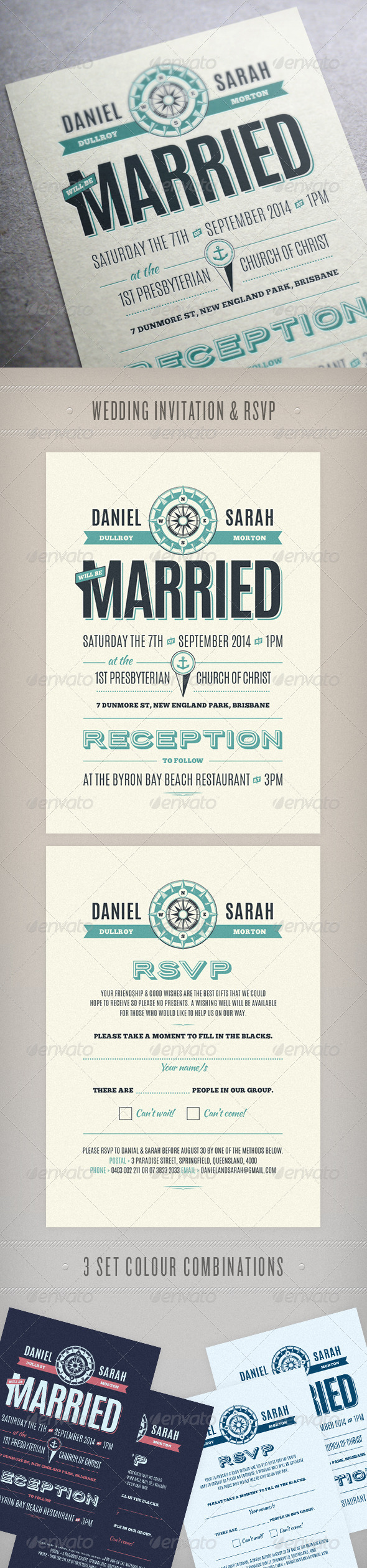 Nautical Wedding Invite - Weddings Cards & Invites