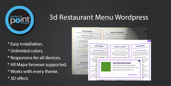 3D Restaurant Menu Wordpress - CodeCanyon Item for Sale