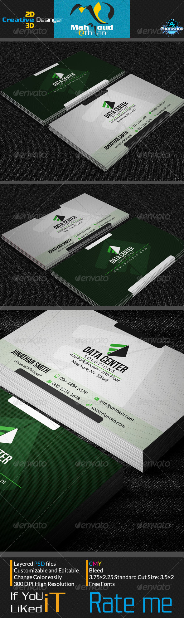Corportae Business Card V07 - Corporate Business Cards