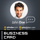 Vertical Creative Business Card - GraphicRiver Item for Sale