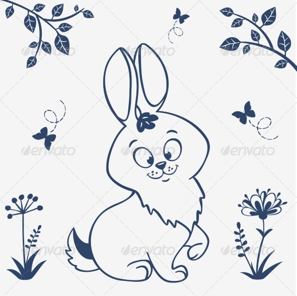 Bunny Silhouette - Animals Characters