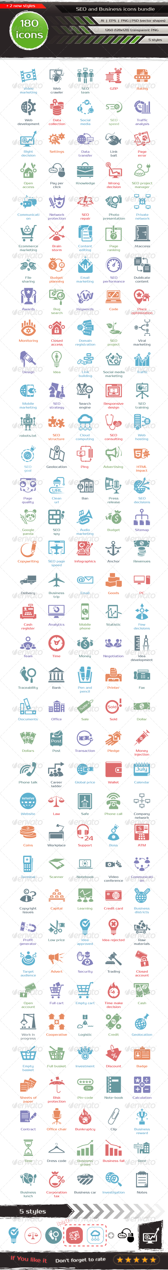 SEO and Business Icons Bundle - Business Icons
