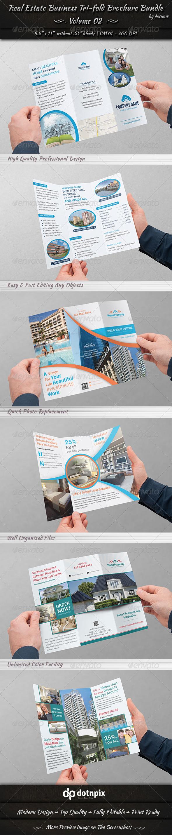 Real Estate Tri-fold Brochure Bundle | Volume 2 - Corporate Brochures