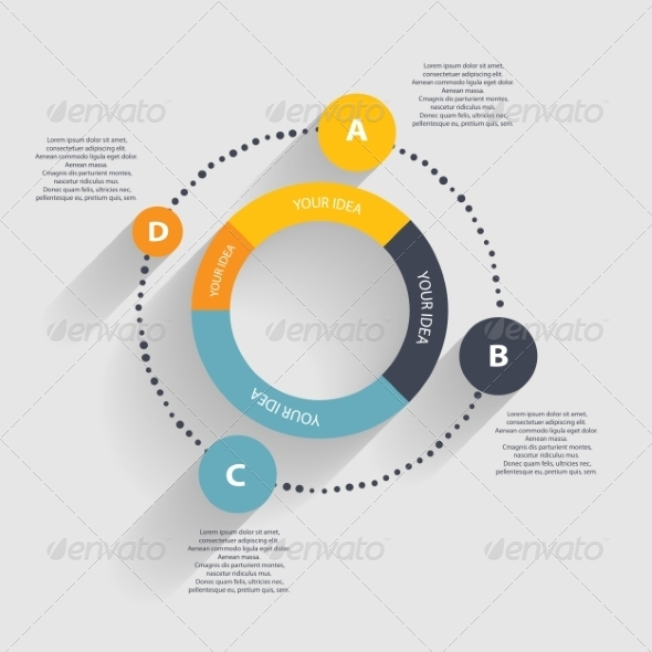 Infographic Templates for Business Vector - Web Technology