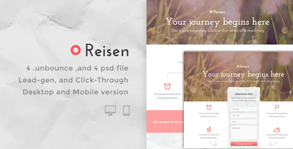 Reisen – Bundle Unbounce pages