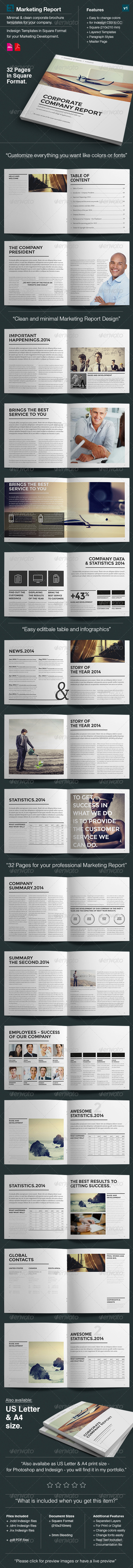 Design Marketing Brochure / Square Size v1  - Corporate Brochures