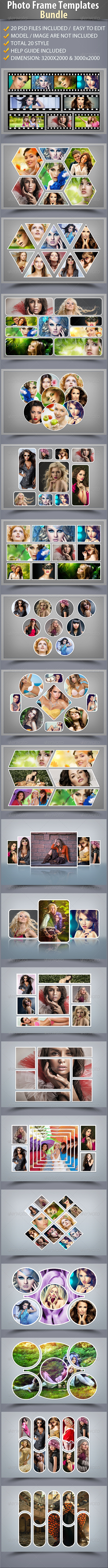 Photo Frame Templates Bundle - Photo Templates Graphics