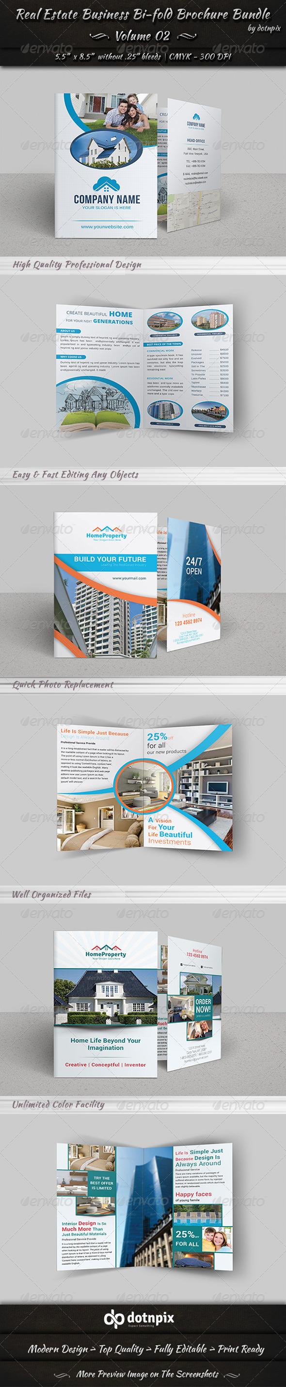 Real Estate Bi-fold Brochure Bundle | Volume 2 - Corporate Brochures