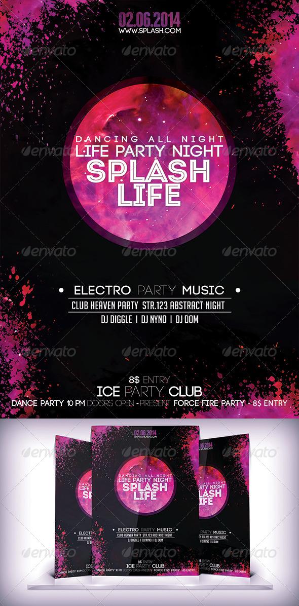 Splash Life PartyFyer - Flyers Print Templates