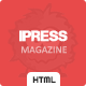 iPress - Magazine and Blog HTML5 Template Nulled