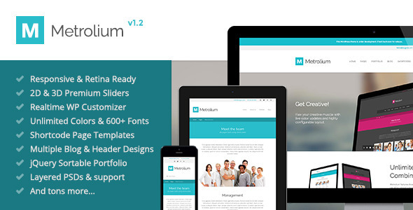 Metrolium – Responsive Multi-Purpose WP Theme