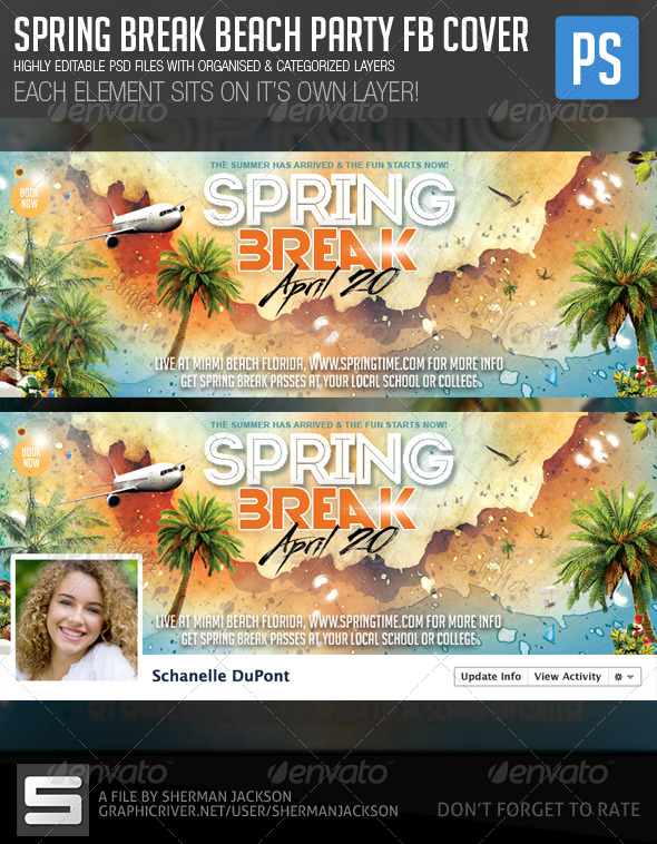 Spring Break Beach Party FB Cover - Facebook Timeline Covers Social Media