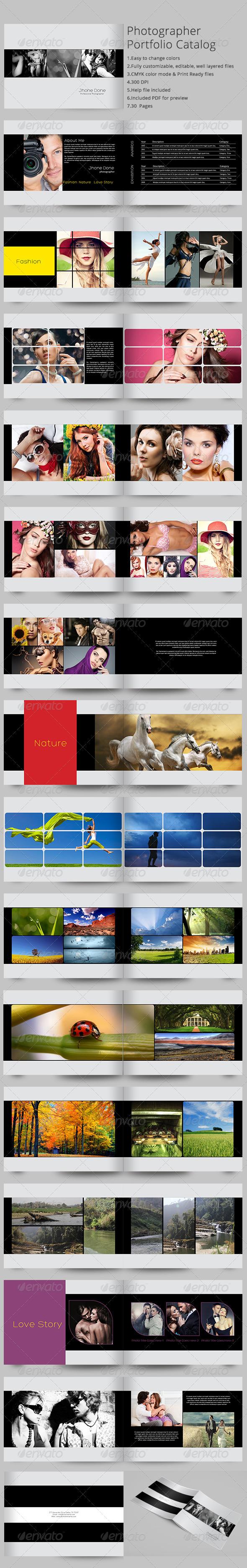 Photographer Portfolio Catalog - Portfolio Brochures