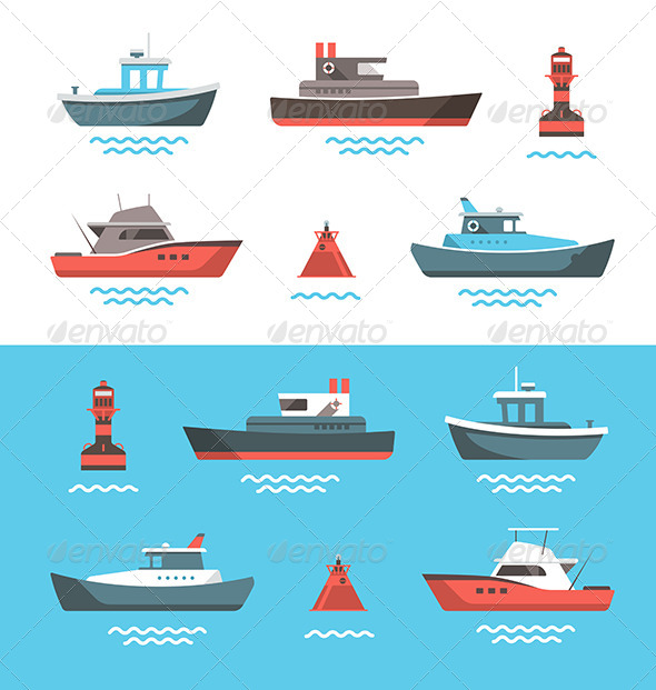 Illustrations of Boats - Miscellaneous Conceptual