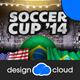 Soccer Cup Brazil 2014 Flyer Template