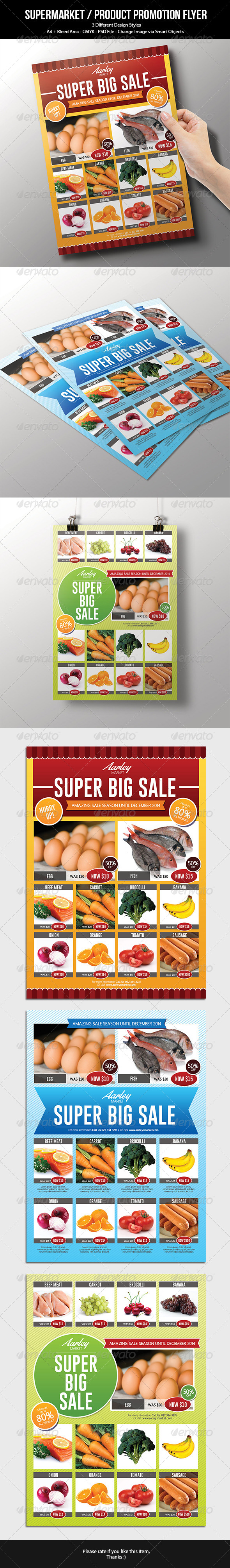 Supermarket / Product Promotion Flyer - Commerce Flyers