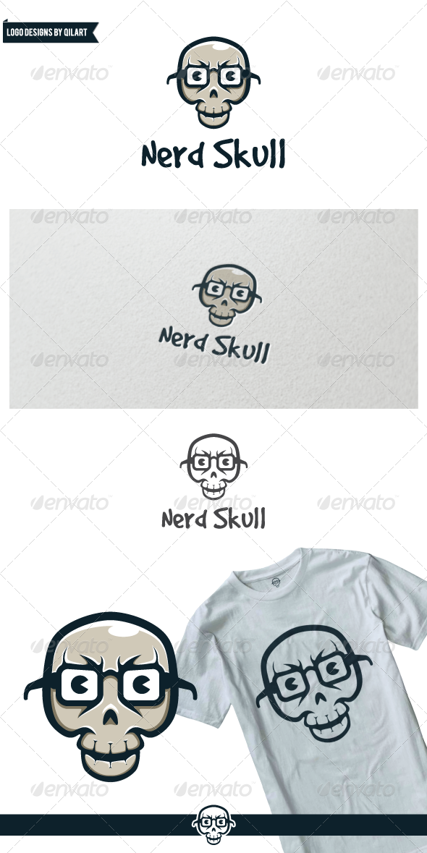 Nerd Skull - Humans Logo Templates