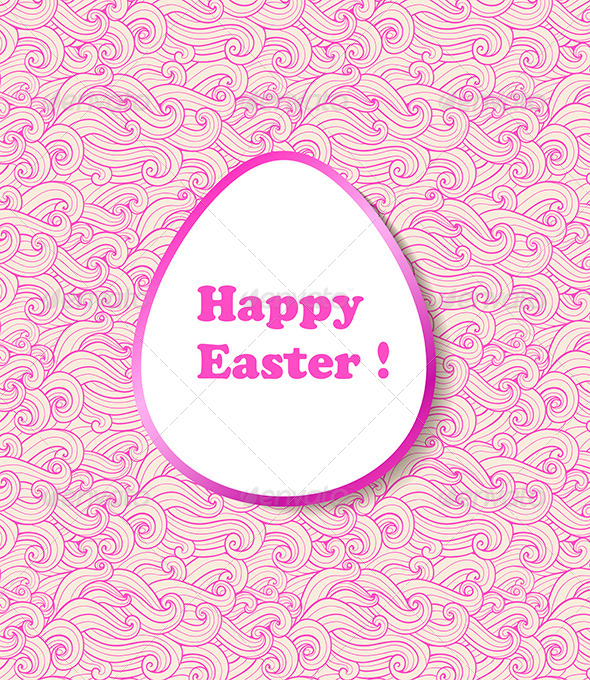Decorative Vector Easter Banner - Miscellaneous Seasons/Holidays