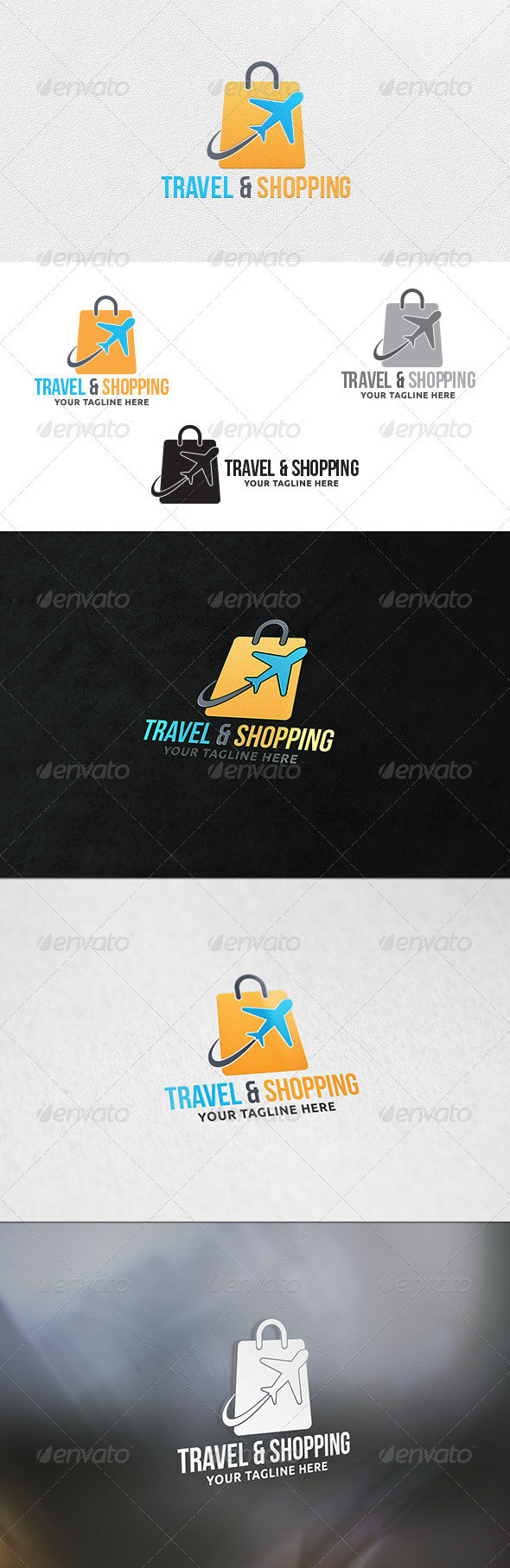 Travel and Shopping - Logo Template - Symbols Logo Templates