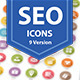 SEO & Internet Marketing Icons 9 Version - GraphicRiver Item for Sale