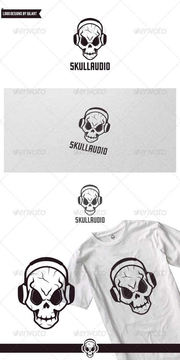 Audio Skull - Humans Logo Templates